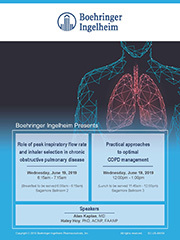 19.2.005 Role of peak inspiratory flow rate and inhaler selection in chronic obstructive pulmonary disease