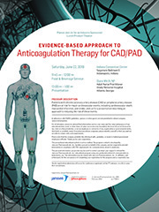19.5.082 Evidence-Based Approach to Anticoagulation Therapy for CAD/PAD
