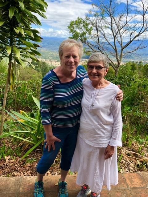 AANP Fellow Cathy M. St. Pierre hugs Sister Maria Ceballos in Honduras
