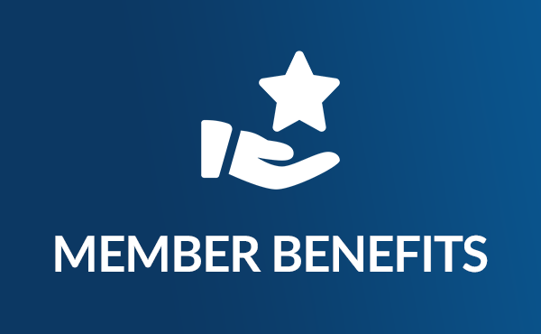 Icon of Member Benefits, with a hand holding a star icon