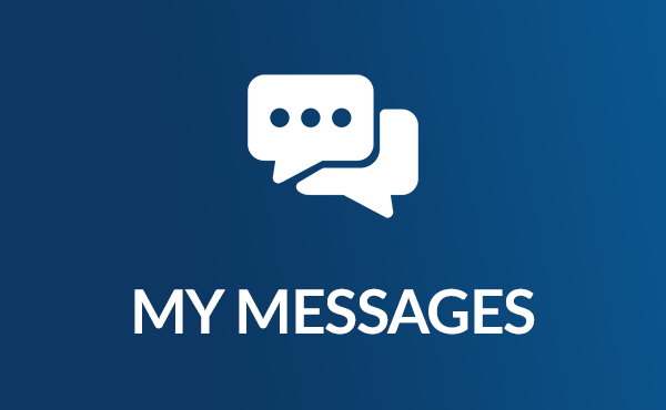 Icon of My Messages, with two speech bubbles, one of which has an ellipsis