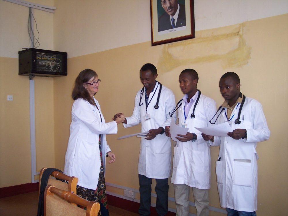 Dr Maria Kidner in Rwanda